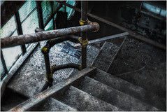 Scranton Lace (ronnymariano) Tags: stairs glass abandoned abandonedplaces decay glove dirty old rusty exploration scrantonlace industrial 2017 metal scranton pennsylvania unitedstates us ironmetal constructionindustry iron factory staircase retrostyled closeup backgrounds steps industry obsolete equipment architecture steel oldfashioned window