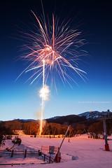 Lets Celebrate!    THREDBO    SNOWY MOUNTAINS (rhyspope) Tags: australia aussie nsw new south wales canon 5d mkii thredbo night friday flat winter resort snowfield firework ski snowboard rhys pope rhyspope