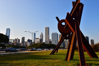 A Sculpture by the S. Lake Shore Drive, Chicago, Illinois