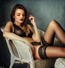 Ruth M. Peñalver (Pablo Cañas) Tags: ruthmpeñalver model modeling modelingfashion beautiful mirada belleza pelo rubio sexy sensual sensuality sensualidad medias lingerie panty boudoir