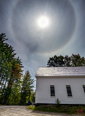 Sun Halo Over Veterans Hall (Mitymous) Tags: richmond latesummer17 sunhalo vetshall