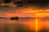 sunset 2675 (junjiaoyama) Tags: japan sunset sky light cloud weather landscape orange contrast colour bright lake island water nature sun rays summer