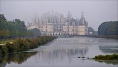 Chambord, un matin... (Sugarth/Photo) Tags: châteaux chambord brouillard biches cerfs cosson