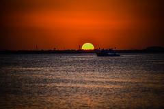 Sunset on the Lagoon at La Isla Shopping Village - Cancun Mexico (mbell1975) Tags: cancún quintanaroo mexico mxsunset lagoon la isla shopping village cancun mx sunset yucatán yucatan quintana roo riviera maya rivieramaya water caribbean sea ocean gulf cove bay yellow orange sun
