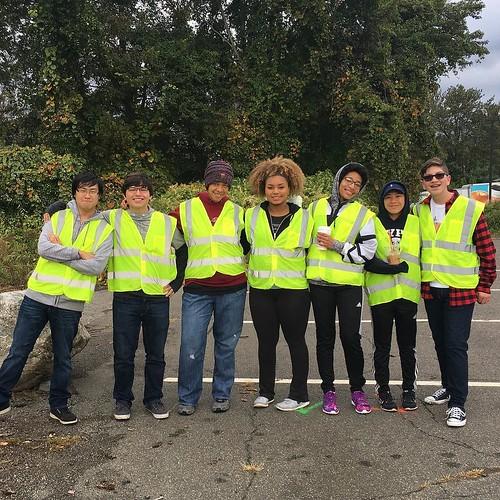 Woodland volunteers at the Lion's Club 5K Run/Walk in honor of Woodland alumni Kerri Rogozo. Story by Jake Veillette on Hawk Headlines now!