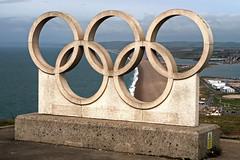 Portland Island Olympic Rings (Jainbow) Tags: olympic olympicrings portland sculpture jainbow