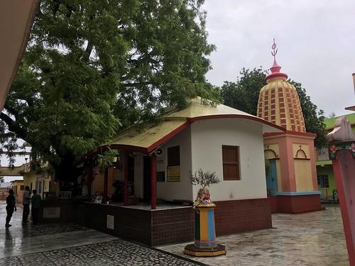 The Mandir of Jagannath Misra and Saci devi. Behind is Mahadeva - Yogapith