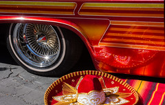 Sombrero (maberto) Tags: carshow chevorlet chevy custompaint d7200 impala lowrider lowered nikon relentless socios bombs custom slammed ©bradmaberto sombrero whitewall spokewheel