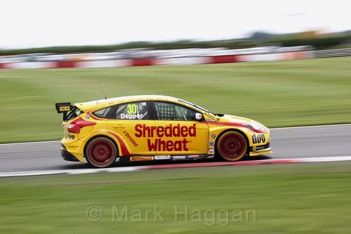Martin Depper in BTCC action at Snetterton, July 2017