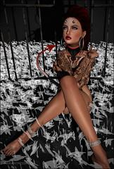 devil-devil (__ Mariah1Moon __) Tags: second life secondlife sl m1m savoir faire look fashion decor escalated saga petit chat sam tattoos red mint redmint catwa maitreya bento dselles