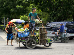 Melons (Beegee49) Tags: tricycle man standing street bacolod city philippines