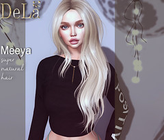 """=DeLa*= new hair """"Meeya"""" (=DeLa*=) Tags: dela hair rigged fitted mesh materials secondlife secondlifefashion sl slhair style tres chic new"""