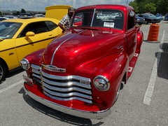 1949 Chevrolet 3100 Pickup (RadialSkid) Tags: 1949 chevrolet pickup hot rod candy maroon custom metallic paint car show