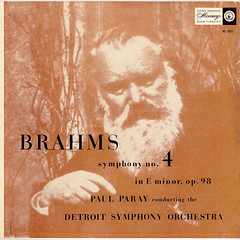 Brahms Symphony 4 - Paray DSO Mercury 1 (sacqueboutier) Tags: vintage vinyl vinylcollection vinyllover vinylnation vinylcollector lp lplover lps lpcollection lpcover lpcollector lpcoverart mercury records record classical classicalmusic music