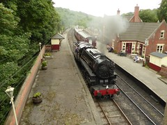 At Kingsley and Froghall station (JuliaC2006) Tags: churnetvalleyrailway steam engine train locomotive 5197 s160 staffordshire