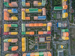 Aerial of Comfort Town in Kiev (wuestenigel) Tags: phantom3 outdoor summer dji quadrocopter kiev kyiv kyivcity ukraine ua industry industrie noperson keineperson city stadt urban städtisch street strase old alt desktop business geschäft building gebäude architecture diearchitektur outdoors drausen pattern muster stock travel reise landscape landschaft house haus market markt commerce handel color farbe storage lagerung