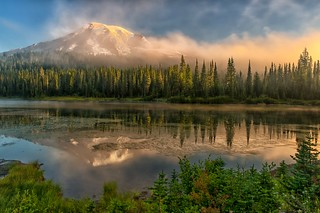 A Misty Morn at Rainier