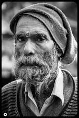 Age of Life (YetAnotherPhotographer) Tags: nikon hindu indian portrait blackwhiteportrait oldman blackwhite