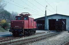 169 005   Murnau  xx.04.80 (w. + h. brutzer) Tags: murnau eisenbahn eisenbahnen train trains elok eloks railway lokomotive locomotive zug db 169 e69 webru deutschland germany analog nikon