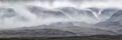 Icelandic mountains in the mist (Sander Grefte) Tags: iceland panorama panoramic ijsland landscape landschap mountains mountain bergen mist mistig misty snow sneeuw sfeervol sfeer sandergreftephotoscom