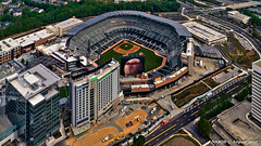 Marietta, GA: SunTrust Park, new home of the Atlanta Braves baseball team (nabobswims) Tags: aerialphotography atlanta georgia hdr helicopter highdynamicrange lightroom nabob nabobswims photomatix sel18105g sonya6000 us unitedstates smyrna