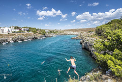 Porto Badisco (augello.info) Tags: 500px sea italy calm peaceful jump shore jumping seascape salento puglia seashore shoreline waterfront tranquil serenity blue water kornati krka