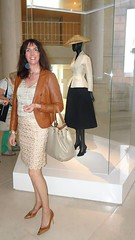 @ Dior exhibition / @ l'expo Dior (french_lolita) Tags: brown leather skirt jacket