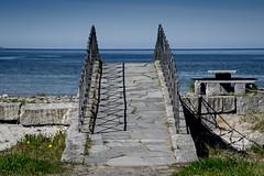 beyond the bridge (e-box 65) Tags: bridge sea shore beach nordland norway north nikon 55 300 blue stone landscape view rv17 fv17 d5300 storvika bodø scandinavia skandinavien norwegen norden brücke