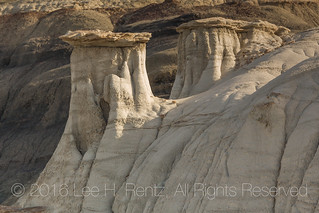 Hoodoos in the Dramatic Landscape of the Bisti Badlands