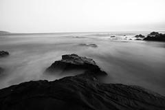 Laguna Beach B&W 1 (Alec (Rebel T3i)) Tags: sunset laguna lagunabeach beach beautiful oceanphotography black blackandwhite bw slowshutter slow clouds bright california cali longexposure longshutter canon canonphotography canont3i rebelt3i
