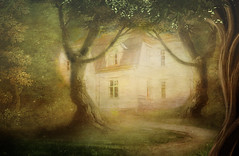 Once upon a time........... (BirgittaSjostedt) Tags: architecture house building abandoned empty summer fsunny mysterious magical mystic fairy fairytale tale paint texture creation