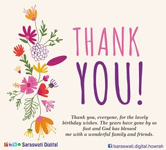 Thank You (saraswatidigital) Tags: saraswatidigital card ecard festival thankyou wish birthday birthdaywish art artist creativity india flower illustration digitalart