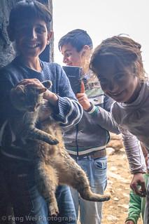 Mischievous Children, Alem Village, Kars, Turkey