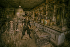 General Store (brian_stoddart) Tags: creepy spooky weird west store strange odd colour vintage composite atmospheric tone