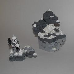 Watch your step... (Jalexanderhutchins) Tags: lego build snow ice rock clone crag war