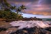 Secret Beach Sunset (Margarita Genkova) Tags: wave rocks secretbeach landscape nature scenery explore serene tranquility sunset palmtrees hawaii maui
