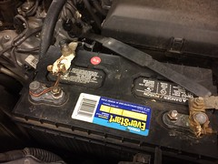 Nice. (stevenbr549) Tags: car battery redneck rigged cable