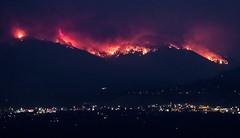 Lolo Peak Fire II (ebhenders) Tags: lolo peak fire montana wildfire flames smoke night glow