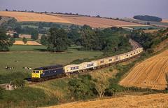 47157 At Great Wishford. 20/08/1987 (briandean2) Tags: railways ukrailways ukfreighttrains 47157 greatwishford wiltshire fosteryeoman