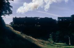 Mytholmes Silhouette. (Neil Harvey 156) Tags: steam steamloco steamengine steamrailway railway 44767 georgestephenson mytholmesviaduct mytholmes keighleyworthvalleyrailway kwvr worthvalleyrailway black5 lms stanier