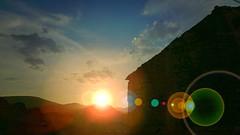 Beautiful flare. Alobras. Teruel. 2017 (cirooduber) Tags: visualart awardtree trollieexcellence digitalarttaiwan flare landscapes sunset atardeceres
