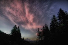 spirit of the land... (Alvin Harp) Tags: may 2016 sonyilce7rm2 fe24240mm spiritoftheland sunset pinkclouds mountshasta i5 california northerncalifornia naturesbeauty talltrees alvinharp