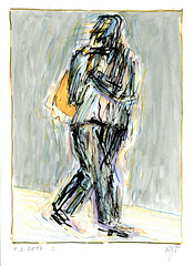Wolfram Zimmer: Move - Schritt (ein_quadratmeter) Tags: wolframzimmer bilder kunst malerei gemälde wolfram zimmer konzeptkunst objektkunst mein freiburg burg birkenhof kirchzarten ausstellung ausstellungen peinture exhibition exhibitions zeichnung tusche besen ink broom besom