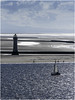 New Brighton lighthouse (Luc V. de Zeeuw) Tags: beach lighthouse newbrightonlighthouse sailing sailingship ship unitedkingdom