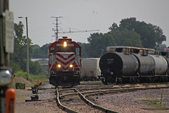 L469 power switches on the north end of the yard (AndyWS formerly_WisconsinSkies) Tags: train railroad railway railfan wisconsinandsouthern wsor watco wamx emd gp392 locomotive