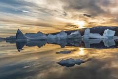 A Jumble of Icebergs (loomstone) Tags: arctic iceberg reflection seascape icebergcity greenland scoresbysound
