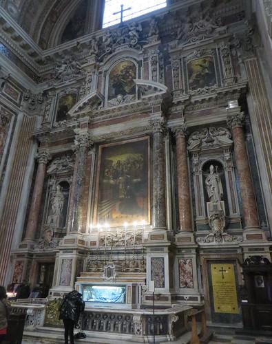 Chappelle de Saint François-Xavier, église baroque du Gesù Nuovo (1584-1725), piazza del Gesù Nuovo,  Naples, Campanie, Italie.
