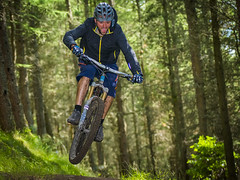 serious fun! (grahamrobb888) Tags: nikon nikond800 nikkor afnikkor80200mm128ed mountainbike bicycle bikerace forest footpath competition scotland trees speedlight flash sb700