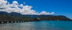 Hanalei Pier (Garden State Hiker) Tags: kauai landscape hanaleibay water mountains sky blue hanaleipier hawaii bay hanalei