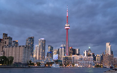Toronto Evening (Ben_Senior) Tags: bensenior photography nikond7100 nikon d7100 building buildings tower towers city skyline cloud clouds cloudy toronto ontario canada cntower water lakeontario lake travel